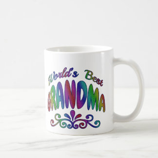 Colorful World's Best Grandma Mugs and Cups