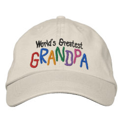Embroidered Adjustable Cap with Embroidered Grandpa Gifts design