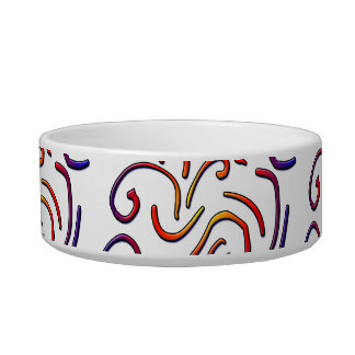 Colorful worm lines bowl