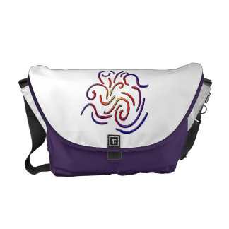 Colorful worm lines messenger bags