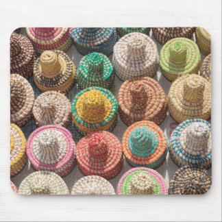 Colorful Woven Hats Mouse Pad