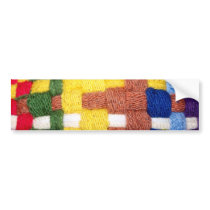 Colorful Woven Pattern Bumper Sticker