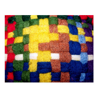 Colorful Woven Pattern Postcard