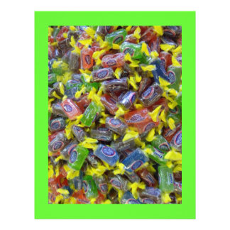Colorful Wrapped Hard Candy Scrapbook Paper Letterhead
