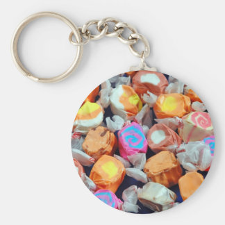 Colorful wrapped taffy candy keychain