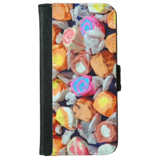 Colorful wrapped taffy iphone wallet case