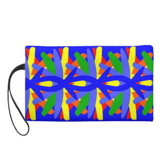 Colorful Wristlet w/Abstract Design