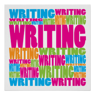 Colorful Writing Poster