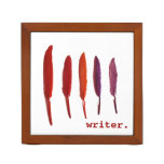 colorful writing quills desk organizers