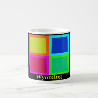 Colorful Wyoming Pop Art Map Coffee Mug