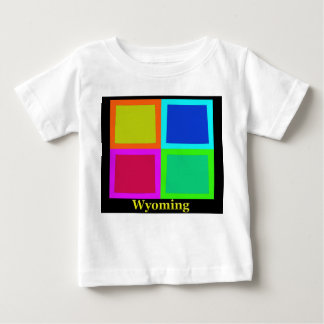 Colorful Wyoming Pop Art Map Infant T-shirt