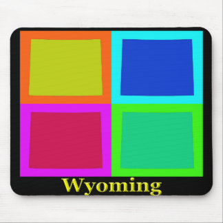 Colorful Wyoming Pop Art Map Mouse Pad