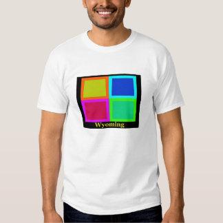 Colorful Wyoming Pop Art Map Shirt