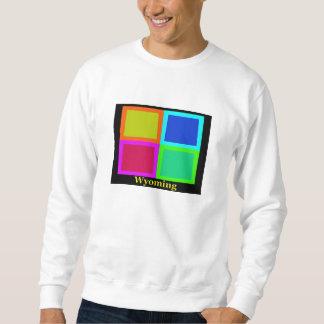 Colorful Wyoming Pop Art Map Sweatshirt