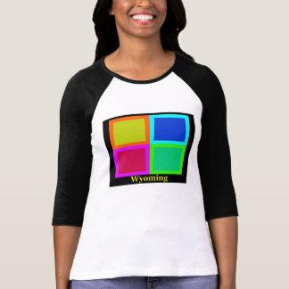 Colorful Wyoming Pop Art Map T Shirt