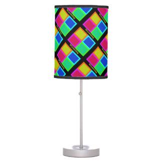 Colorful Wyoming Pop Art Map Table Lamp