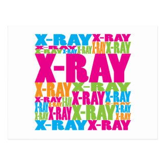 Colorful X-Ray Postcard