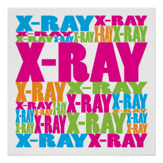 Colorful X-Ray Poster