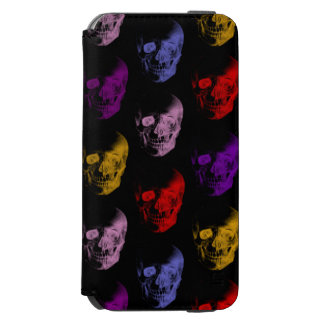 Colorful X-Ray Skulls Pattern iPhone 6/6s Wallet Case