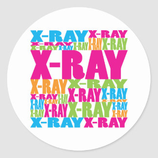 Colorful X-Ray Classic Round Sticker