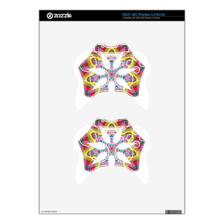 colorful xbox 360 controller decal