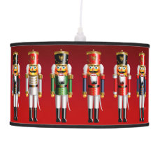 Colorful Xmas Nutcracker Toy Soldiers In Uniforms Ceiling Lamp