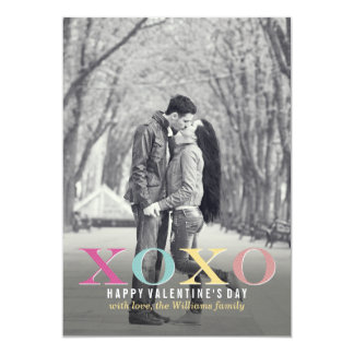 Colorful XOXO   Valentine's Day Cards