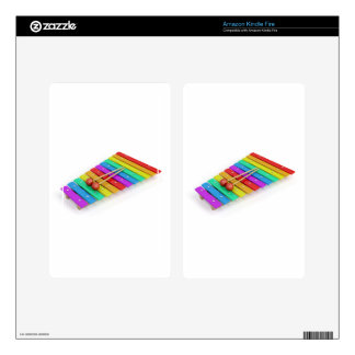 Colorful xylophone skin for kindle fire