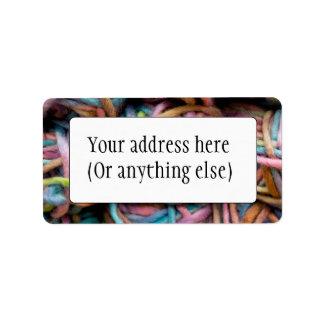 Colorful Yarn Address Label