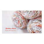 Colorful yarn photo customizable business cards