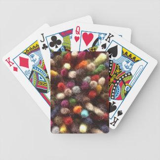 Colorful Yarn Rainbow Wool Bicycle Playing Cards