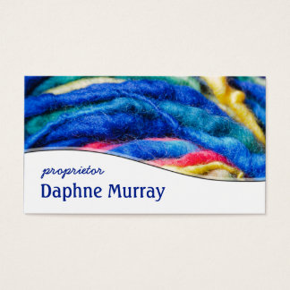 Colorful Yarn Shop Knitting Business Card