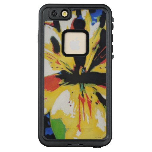 colorful yellow and black original astract picture LifeProof FRĒ iPhone 6/6s plus case