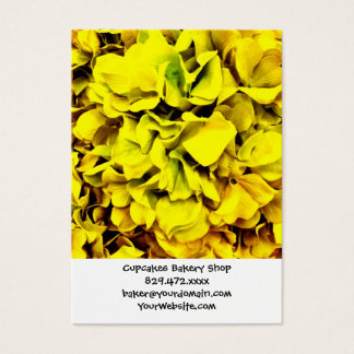 Colorful Yellow Hydrangea Flower Petal Floral Business Card