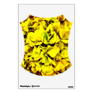 Colorful Yellow Hydrangea Flower Petal Floral Wall Decal