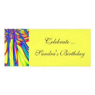 colorful yellow personalized invitation