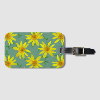 Colorful Yellow Wildflowers on any Color Luggage Tag