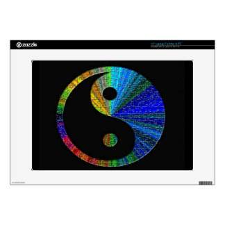 """Colorful Yin And Yang Puzzle Decals For 15"""" Laptops"""