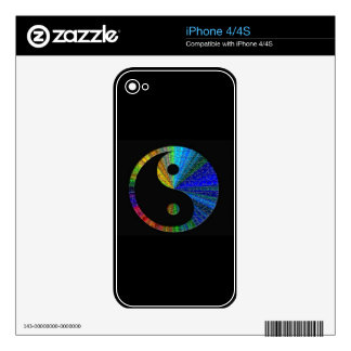 Colorful Yin And Yang Puzzle iPhone 4 Skins