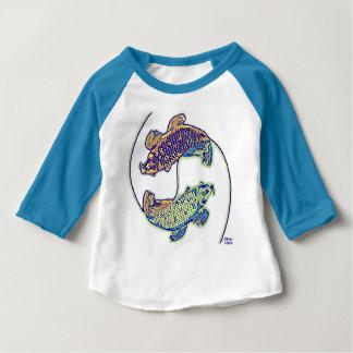 Colorful Yin Yang Goldfish Kids' T shirt