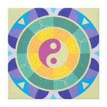 Colorful Yin Yang Pattern Canvas Print