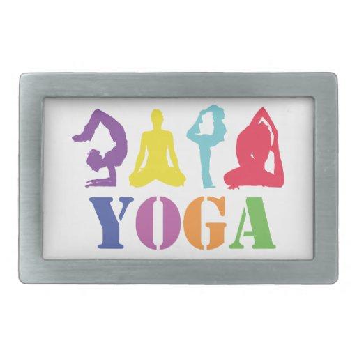 Colorful Yoga Design Belt Buckles