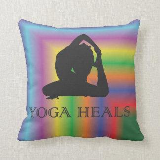 Colorful Yoga heals Pillow