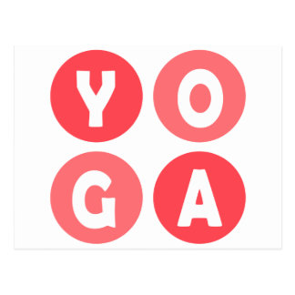 Colorful Yoga Lettering Postcard