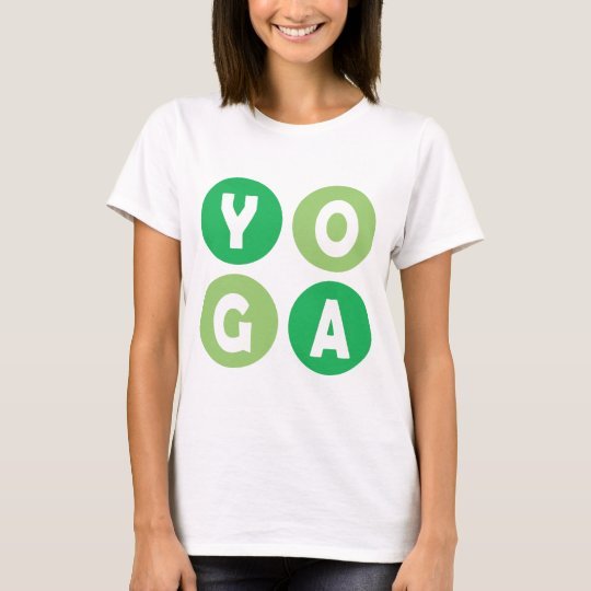 Colorful Yoga Lettering T-Shirt