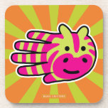 Hand shaped Colorful Zebra Beverage Coaster