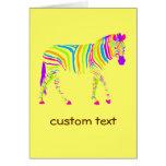 Colorful Zebra Cards