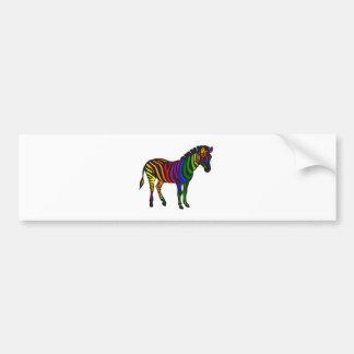 Colorful zebra design for cards, t-shirt, gift bumper sticker