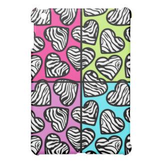 Colorful zebra hearts  case for the iPad mini