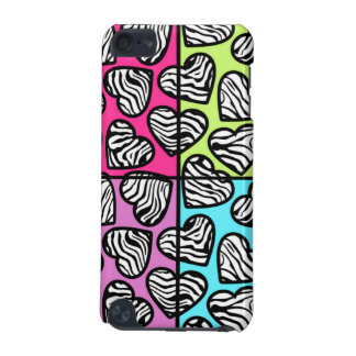 Colorful zebra hearts iPod case iPod Touch 5G Case